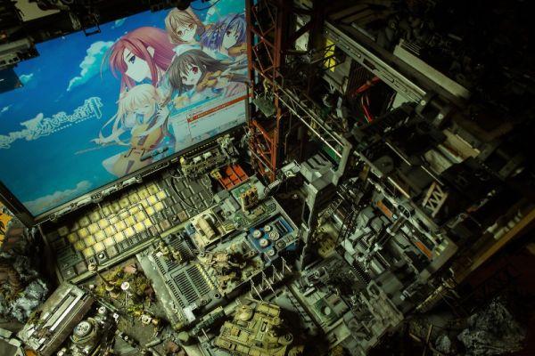 diorama setup by Hiroto Ikeuchi assembling PC case mods together_11