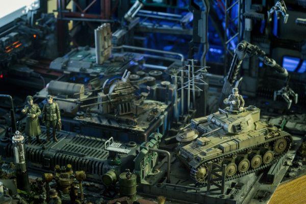 diorama setup by Hiroto Ikeuchi assembling PC case mods together_6