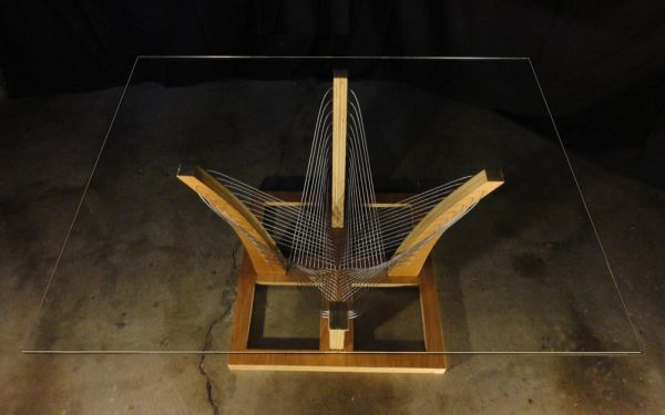 Robby Cuthbert's furniture made from steel cables and wood_2