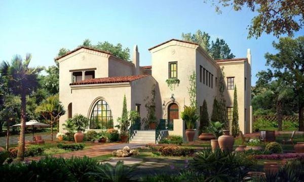 Spanish colonial style mexican villas