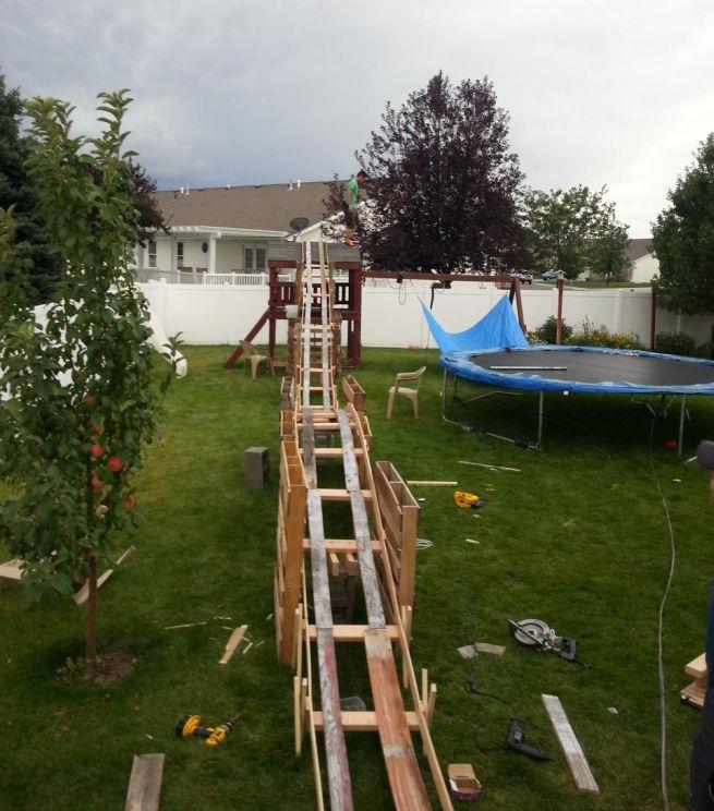 DIY $50 Backyard Rollercoaster_2