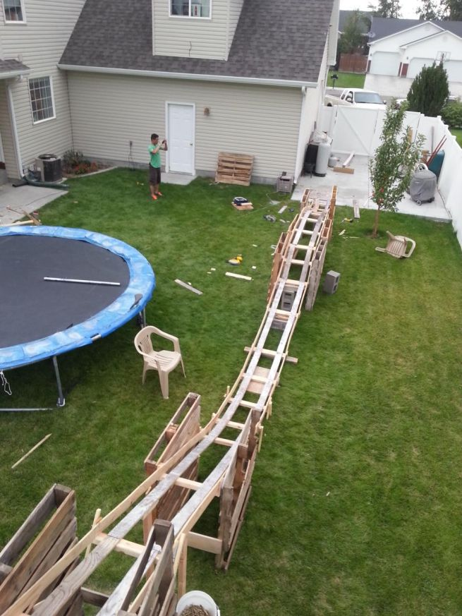 DIY $50 Backyard Rollercoaster_3