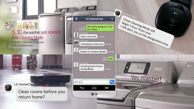 LG HomeChat for home appliances at CES 2014