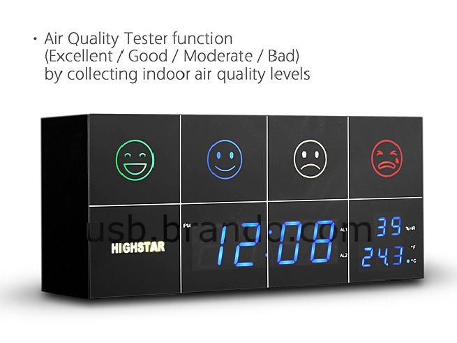 Air Quality Tester Alarm Clock_2