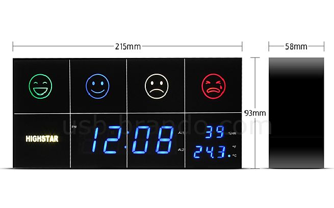 Air Quality Tester Alarm Clock_4
