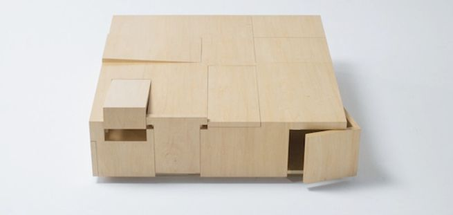 Kai Table and Puzzle box storage cabinet_3