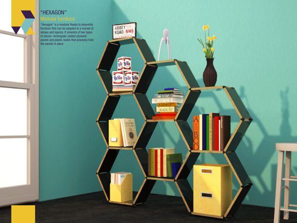 Hexagon modular furniture by Roger Zambrano_1