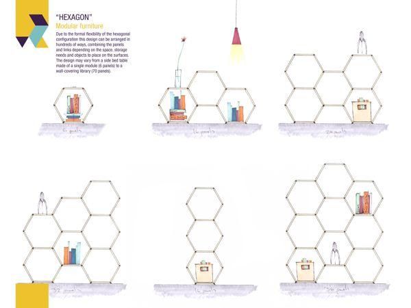 Hexagon modular furniture by Roger Zambrano_4