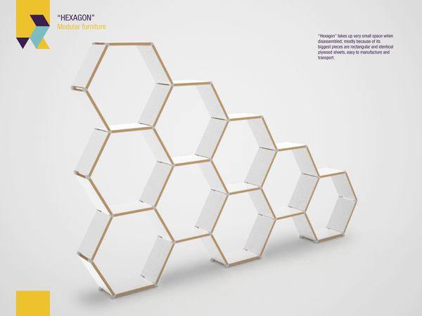 Hexagon modular furniture by Roger Zambrano_5