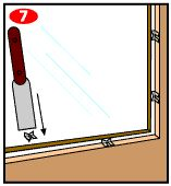 How to replace window glass_5