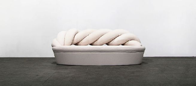 Front view of the Marshmallow Sofa