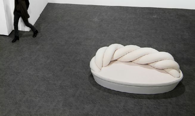 Top view of Marshmallow sofa showing curved backrest