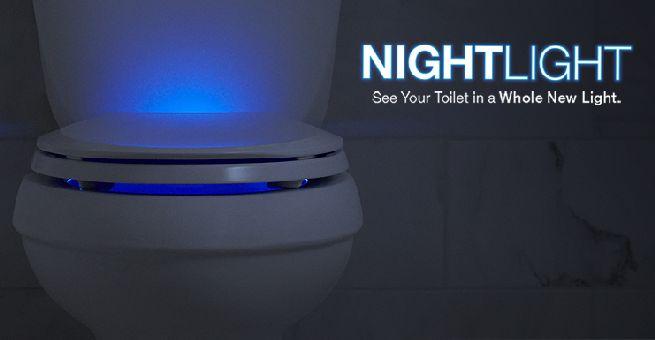 led lit high tech 39 nightlight 39 toilet seat from kohler. Black Bedroom Furniture Sets. Home Design Ideas