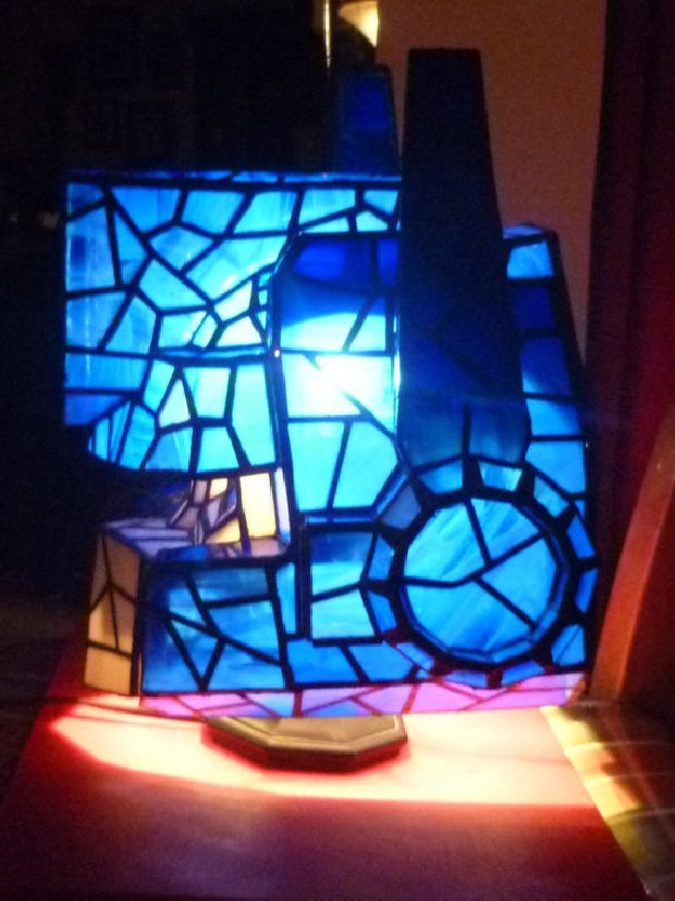 Optimus Prime Stained Glass Lamp To Fuel Your Righteous Senses