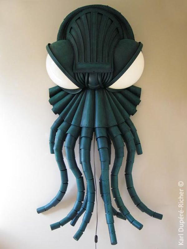 Sinister Cthulhu wall lamp by Karl Dupere-Richer_1