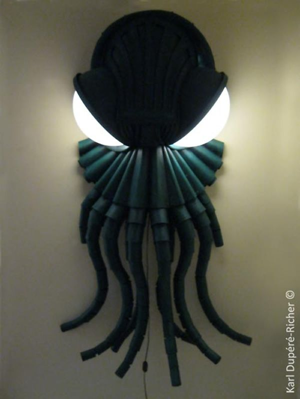 Sinister Cthulhu wall lamp by Karl Dupere-Richer_3