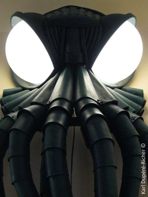Sinister Cthulhu wall lamp by Karl Dupere-Richer_5