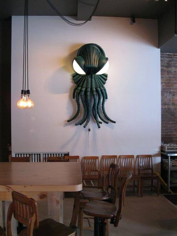 Sinister Cthulhu wall lamp by Karl Dupere-Richer_6