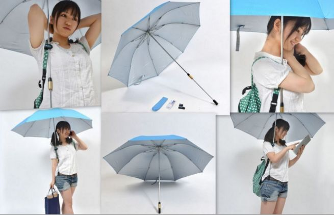 Thanko Hands free umbrella_3