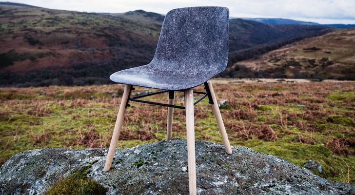 solid wool chair