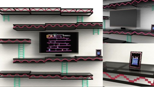 Donkey-Kong inspired Shelving Unit