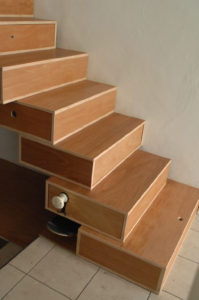 Harry Thaler S Maki Stairs Double Up As A Storage System