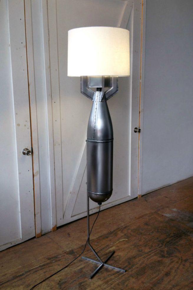 Megaton floor lamp created from bomb