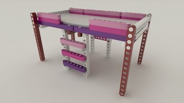 Olla Lego modular furniture for children_1 & Olla: A Lego-like modular furniture system for kids