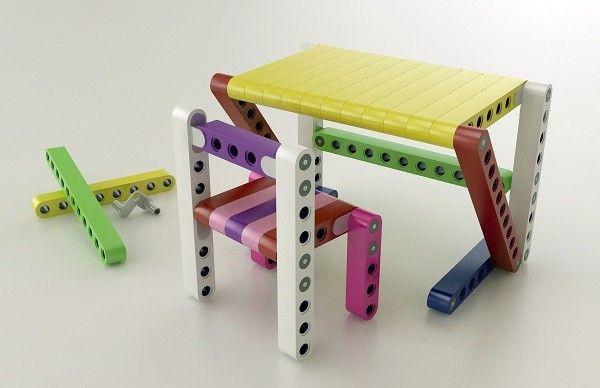 Olla Lego modular furniture for children_5 & Olla: A Lego-like modular furniture system for kids
