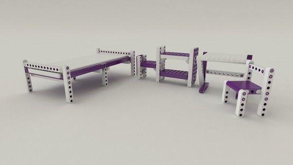 Olla Lego modular furniture for children_6