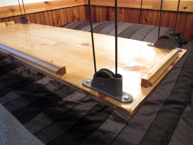 pulley system for hanging bed close up