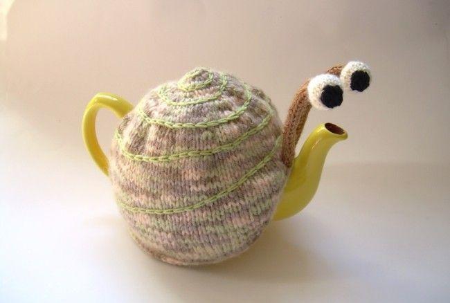 Snail tea pattern teapot_1