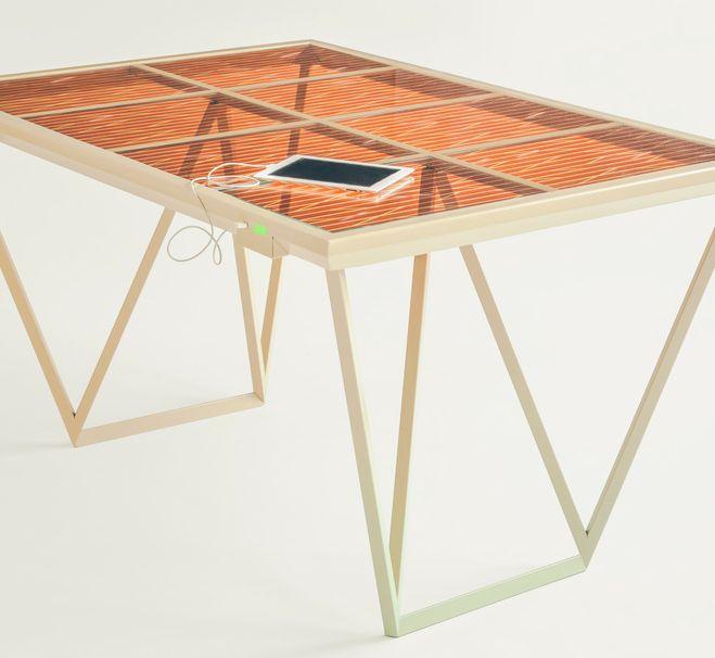 Solar powered table by Marjan van Aubel_1
