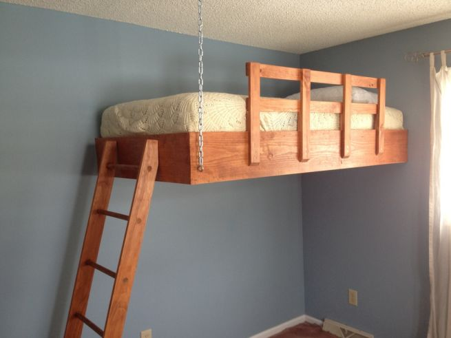 Download hanging loft bed plans plans free for How to make a loft room