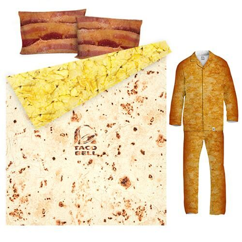 Taco Bell Crunchwrap Bed Sheets