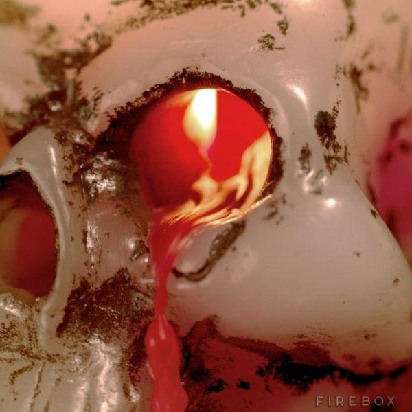 Bleeding Skull Candle_2