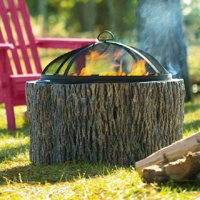 Faux Tree Stump Fire Pit_1