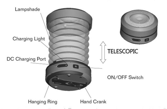 Hand-cranked Secur Collapsible LED lantern_6