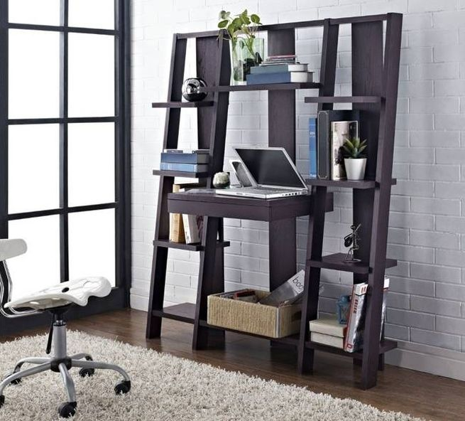Ladder Bookcase with Desk_1