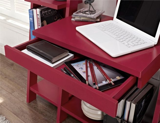 Ladder Bookcase with Desk_4