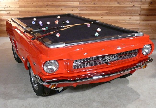 car pool tables are crafted from original classic cars. Black Bedroom Furniture Sets. Home Design Ideas