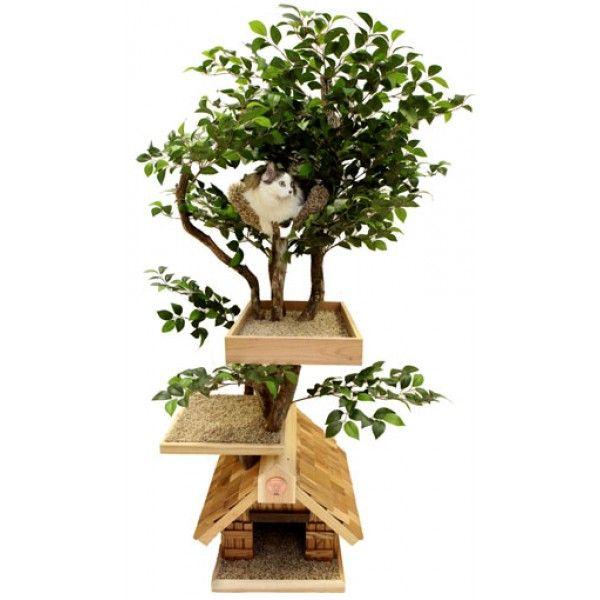 Lifelike Adult Medium Cat Tree House