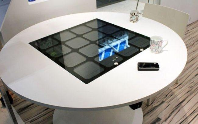 Panasonic's Solar-Powered Table