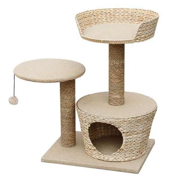 Purrshire Play & Scratch Cat Activity Center
