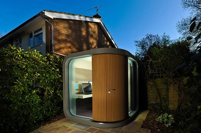 Home office with futuristic essence