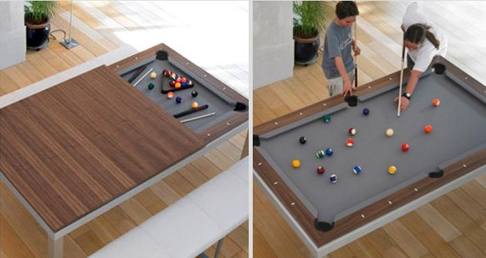 Pool table masquerading as a dining space_2