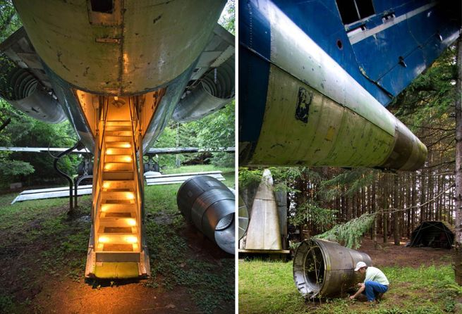 Retired Boeing 727 aircraft recycled to home by Bruce Campbell_2