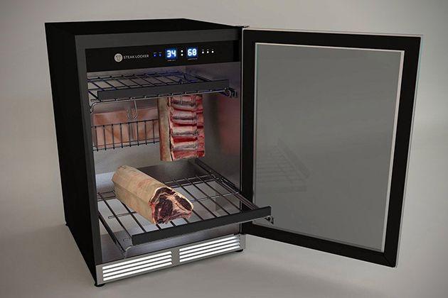 the advanced steaklocker dry ages meat at home. Black Bedroom Furniture Sets. Home Design Ideas
