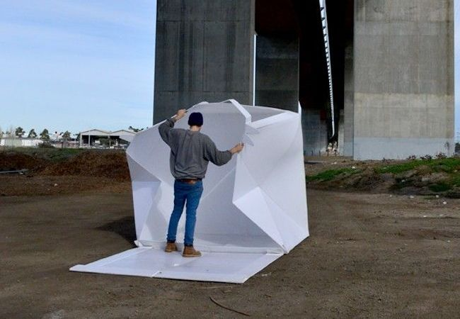 The flat-packed Compact Shelter by Alastair Pryor