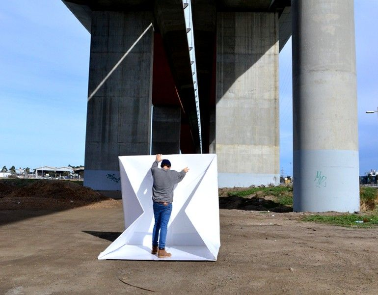 The flat-packed Compact Shelter by Alastair Pryor_2